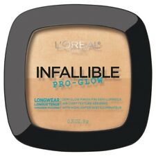 LOREAL Infallible Pro Glow Lasting Powder Highlighter Sand Beige 25 NEW longwear