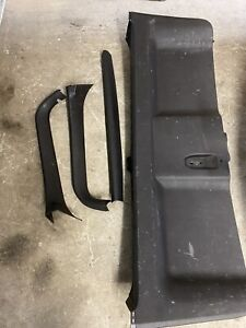 Ford Territory SX SY SY2 Ghia Turbo Rear Tailgate Black Plastic Set