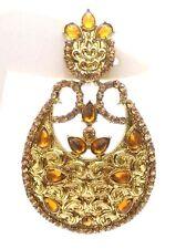 Gold Chand Bali Earring Jhumka Fashion Jewelry Boho Chich Drop Dangle Long E54