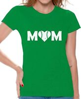 Baseball Mom Heart T shirts Shirts Top for Women Baseball Heart Sport Mom Gift