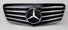 Mercedes E Class W211 07-09 5 Fin Front Hood Sport Black Chrome Grill Grille