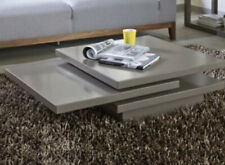 Dwell rotate square stone coffee table