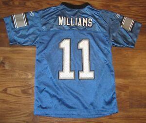 NFL Detroit Lions Roy Williams Boys Jersey, Reebok, Blue, Size M (10-12), EUC