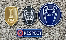 UEFA Europea Championship 2017-18 Patch Set 12 Honour Trophy Respect Real Madrid