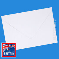 1000 x A6 C6 Premium Quality White 100gsm Gummed Invite Envelopes - 6.37 x 4.48""