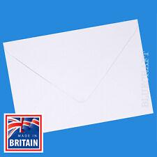 "1000 x A6 C6 Premium Quality White 100gsm Gummed Invite Envelopes - 6.37 x 4.48"""