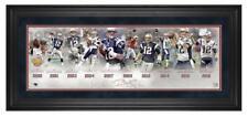 "TOM BRADY Patriots Legacy Career 10"" x 30"" Framed Timeline Collage"