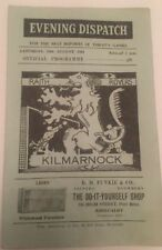 Away Teams F-K Kilmarnock Scottish Cups Football Programmes