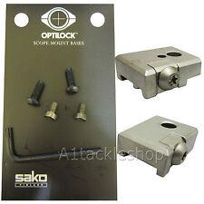Optilock Bases/Base for SAKO Rifle Mounts - Long 75 IV-V 85 S-L etc Stainless