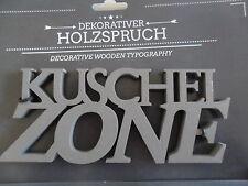 Relief Wandspruch Holz Tür Regal Kuschelzone