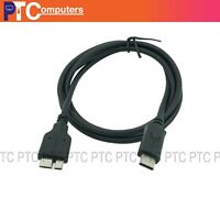 1m Reversible USB-C USB 3.1 Type C Male to USB 3.0 Micro B Male Cable Data Sync