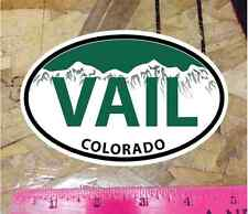 Vail Colorado Green Mountain Oval Sticker State Ski Snowboard