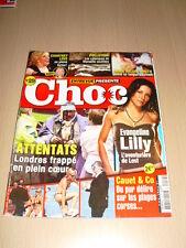 Entrevue Présente CHOC N°29 juillet 2005 Evangeline Lilly Cauet Courtney Love