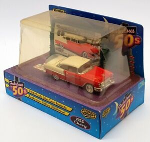 Road Champs 1/43 Scale 64115 - 1955 Chevrolet Bel Air - Red/White
