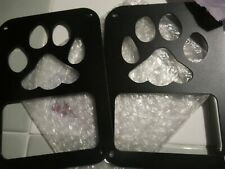 2 Piece Black Tail Light Cover Guards for Jeep Wrangler 07-17 Dog Paw
