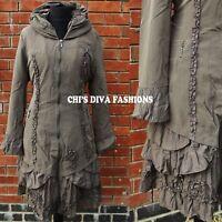 LAGENLOOK Beautiful Fleece Lined Bohemian Longline Jacket Sizes UK18, 20, 22, 24