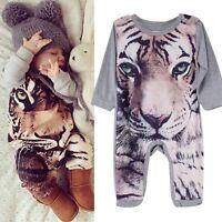 Infant Baby Boy Girl Kids Cotton Romper Jumpsuit Bodysuit Clothes Outfits 0-24M