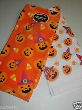 2pk Happy Halloween Midnight Market Kitchen Dish Towels Pumpkins Toss Decor  NWT