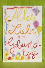 Geburtstagskarte: Alles Liebe zum Geburtstag