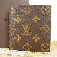 Auth LOUIS VUITTON NEW Monogram Porte Billets 6 Cartes Credit Wallet 11900bkac