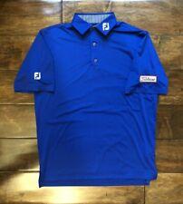 FootJoy Titleist Tour Issue Royal Blue Golf Shirt Mens Size Medium Tour Patch