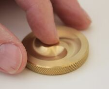"new Solid Brass desktop Fidget Spinner - perfect Executive gift - 1 5/8"" X 1/4"""