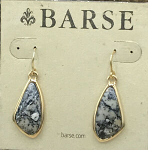 Barse Sunset Collection Earrings- African Opal & Bronze- NWT