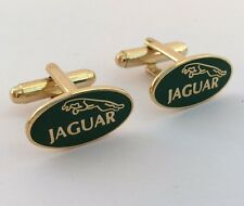 Jaguar Car Mens Metal Oval Cufflinks in gift box