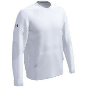 Under Armour Men's CTG Warm-Up Layering Crew Pullover WHITE 3XL
