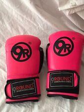 Ty1. Nine Round Kickboxing Women's Gloves Pink And Black Adjustable Wrist Lock