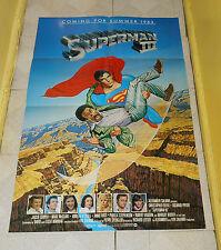 original SUPERMAN III advance teaser one-sheet poster Richard Pryor