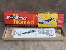 """VINTAGE KEIL Kraft kit prefabbricati Nomad 20"""" apertura alare ALIANTE BALSA KIT."""
