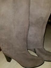 Paul Green Taupe Brown Nubuck Leather Tall cuff  Boots Sz 7.5M