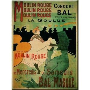 Vintage Chic French Moulin Rouge Paris Metal Sign Plaque