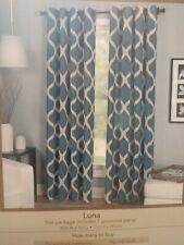 Elrene Home Fashions Luna Curtain Panels 2 Indigo 52x95