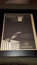 Tony Carey I Won't Be Home Tonight Rare Original Radio Promo Poster Ad Framed!