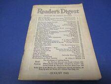 Reader's Digest, August 1942, Radio's Plug-Uglies,Germans Took Fort Eben Emael