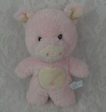 "Aurora Baby Pig Pink Piggy Soft Rattle Little 7""  Plush Stuffed Animal Lovey Toy"
