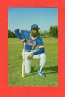 1985  Ny Mets Mookie Wilson Postcard Team Issued Barry Colla Rare