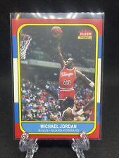 Michael Jordan Rookie Card Reprint.  Fleer 1986 RP