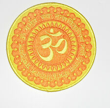 """Zen OM Sun Embroidered iron-on Patch 3 1/2"""""""