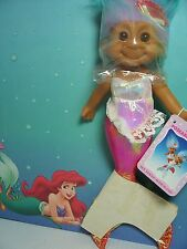 """CORAL HANGING MERMAID WITH HANG TAG - 9"""" Russ Troll Doll - NEW"""