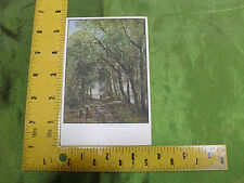 "Original Max Jaffe Collotype Postcard   ""Corot A Lane through the Trees"""