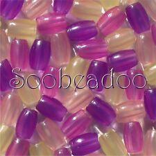 100 UV Sun Solar Color Change Magic BARREL Beads 9x6mm