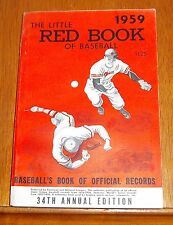 The Little Red Book of Baseball 1959   Baseball's Book of Official Records