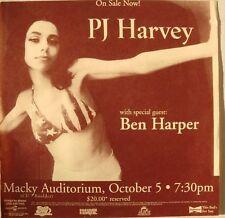 PJ HARVEY / BEN HARPER 1996 DENVER CONCERT TOUR POSTER