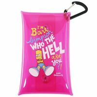 The Simpsons Mini Pouch Carabiner with A Clear Multi-Case s / Pink Bad