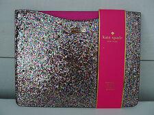 KATE SPADE Sparkle IPAD SLIP SLEEVE 2 3 GEN Gold PINK COVER Case GLITTER Rare !