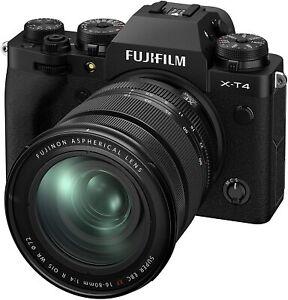 New Fujifilm X-T4 Digital Camera + 16-80mm - Black *OFFICIAL FUJI UK DEALER* XT4