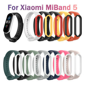 Multicolor Silicon Wristband Watch Band Bracelet Belt Strap for Xiaomi Mi Band 5